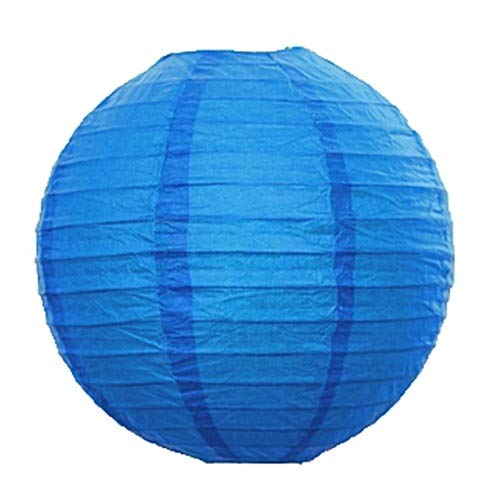 UNIQOOO 18Pcs Premium Assorted Size/Color Blue Paper Lantern Set, Reusable Hanging Decorative Japanese Chinese Paper Lanterns, Easy Assemble, for Birthday Wedding Baby Shower Holiday Party