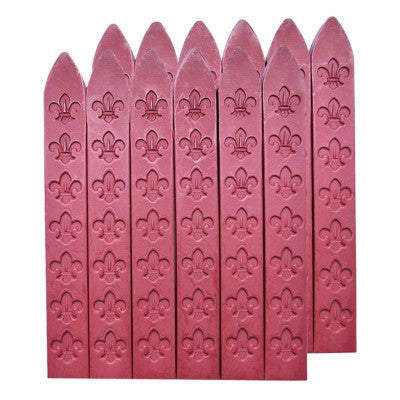 UNIQOOO Traditional Carved Sealing Wax, Dark Red