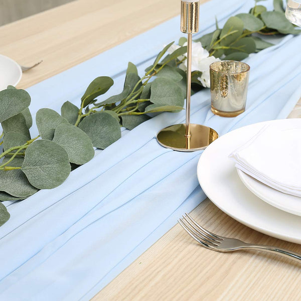 UNIQOOO 47 x 118 Inches Chiffon Table Runner