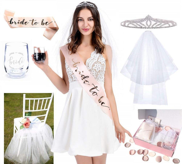 UNIQOOO Chic Bridal Shower Decorations Set | Bachelorette Party Bride Kit