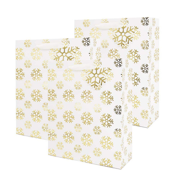 UNIQOOO 12 Pack Christmas Premium Holiday Gift Wrap Bags Bulk, Perfect for Party, Holiday, Christmas, Thanksgiving, New Year