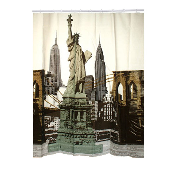 Pack Of 12 Vintage Hot Cold Water Faucet Shower Curtain