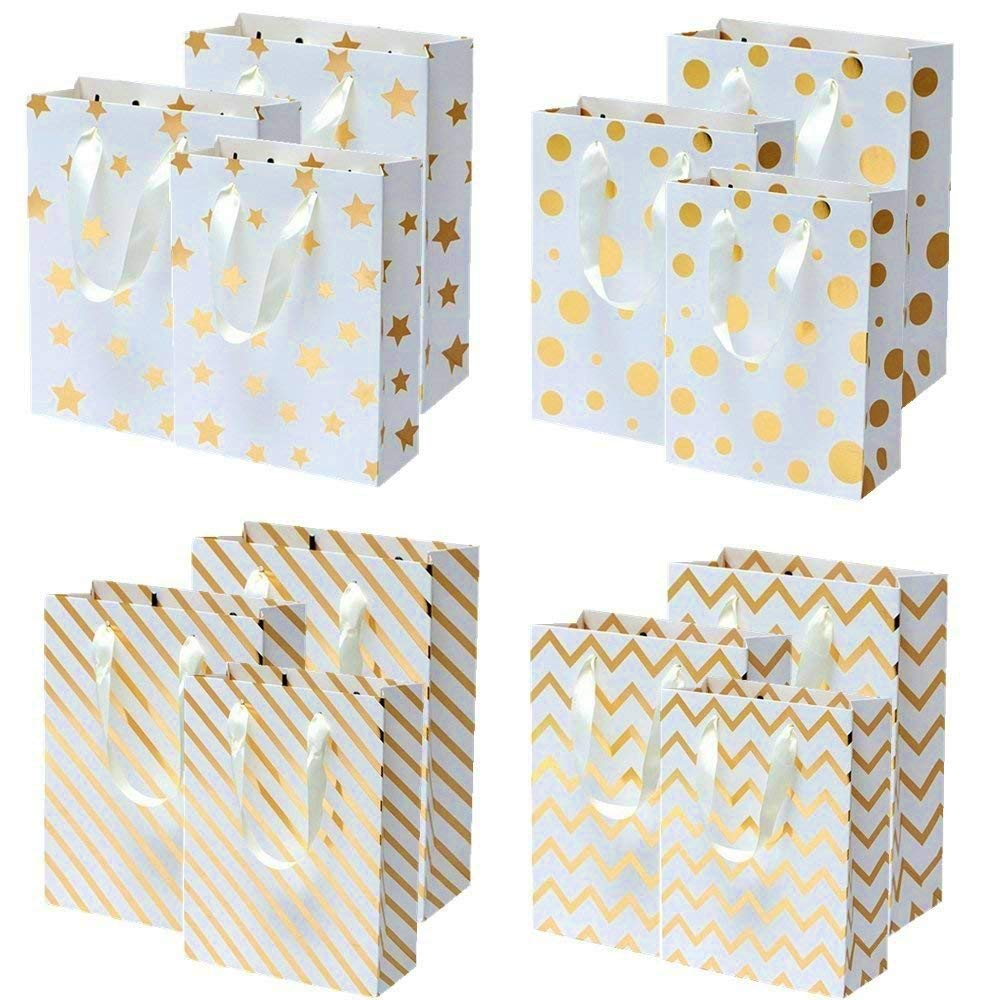 New Party Gift Bags Shiny Paper Birthday Handles Christmas Wine Shopping Wedding