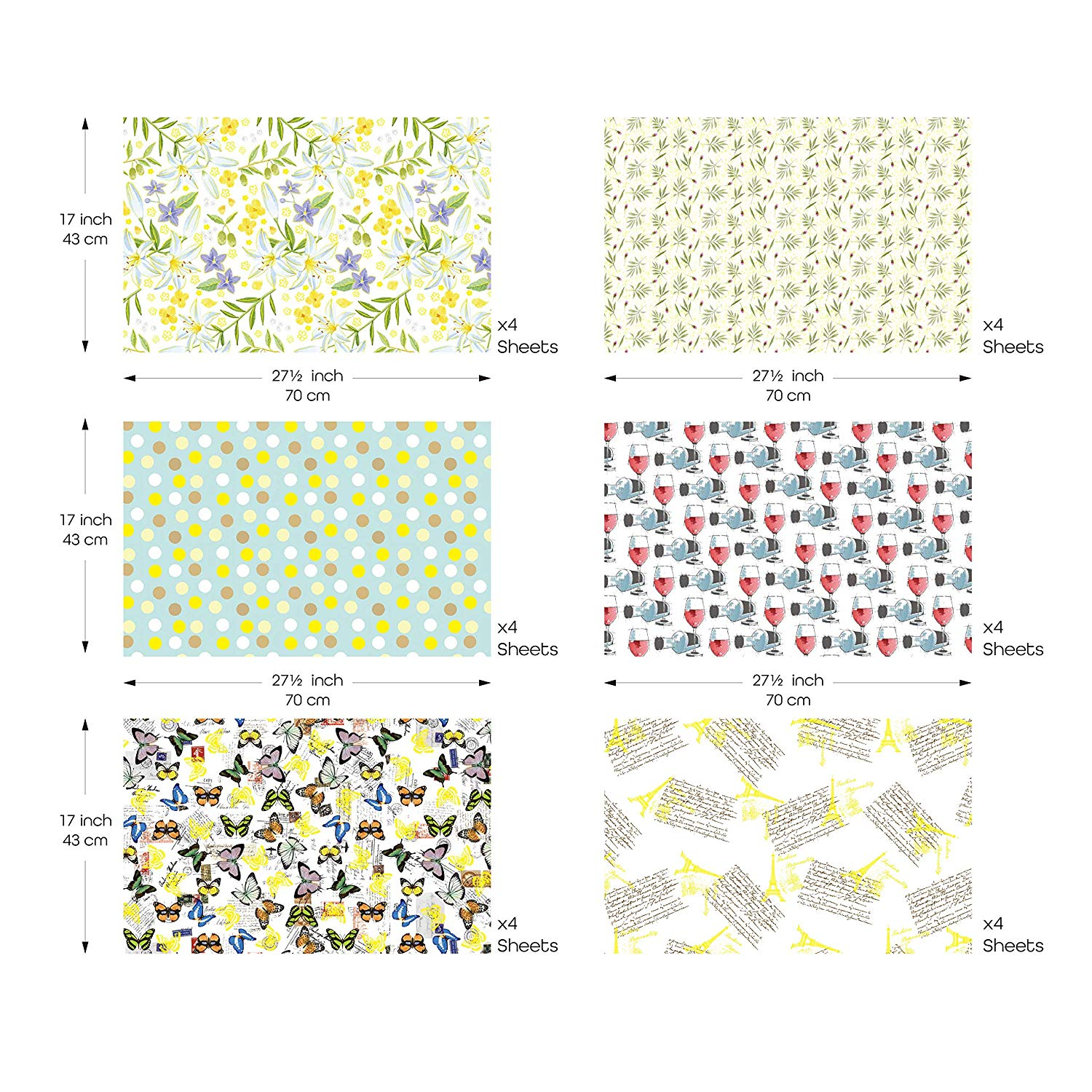 Christmas Gift Wrapper Design.Uniqooo Premium Assorted Gift Wrapping Paper 24 Sheets 6