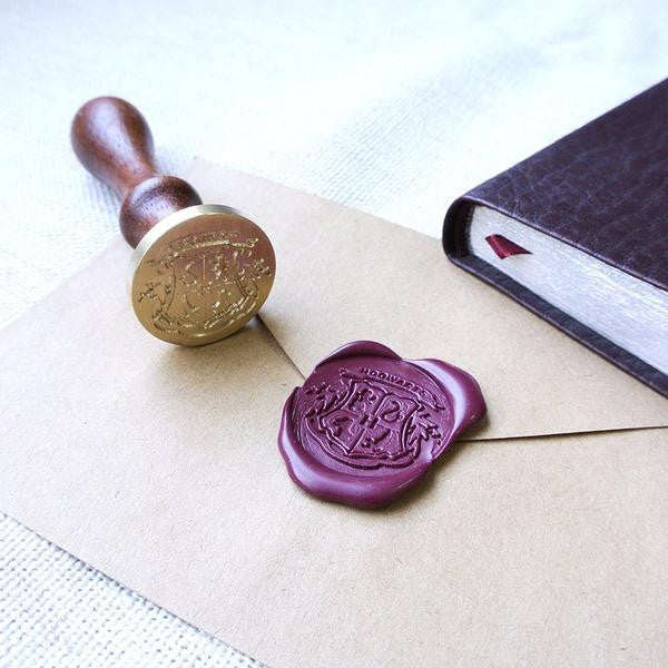 Harry Potter Hogwarts Magic School 4 Houses Badge Wax Seal Stamp Kit