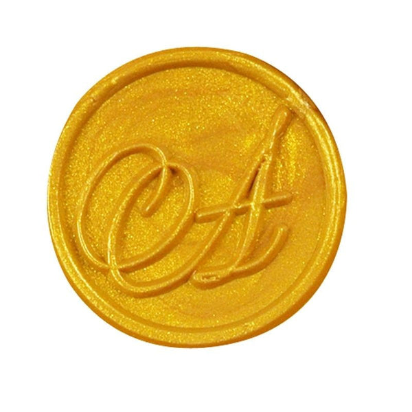 Vintage Slim Tight Script Initial A Wax Sealing Stamp