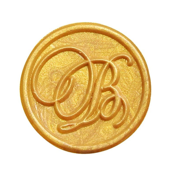 Vintage Slim Tight Script Initial B Wax Sealing Stamp