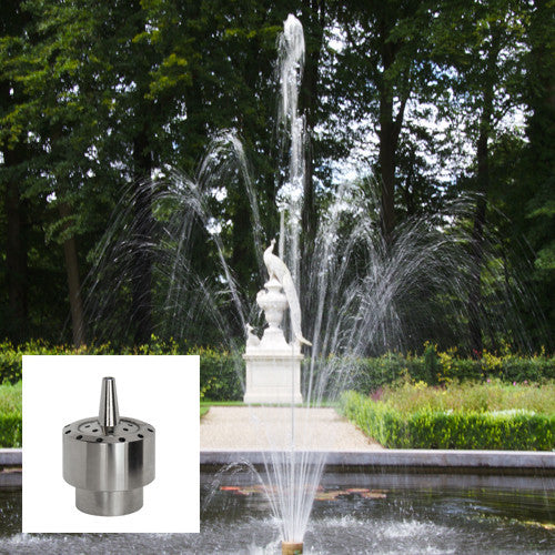 Blossom Fountain Nozzle, Stainless Steel