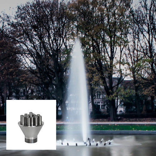Bundled Straight Streams Fountain Nozzle, Stainless Steel