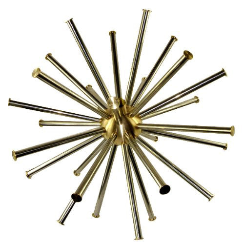 Crystal Sphere Fountain Nozzle, Brass