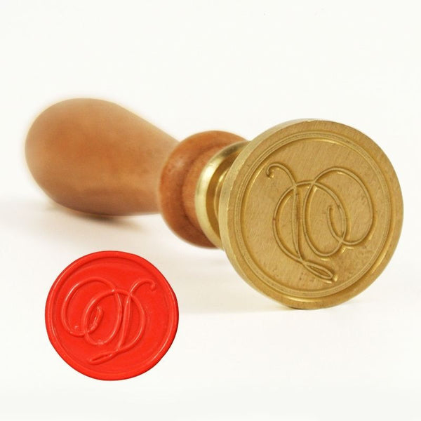 Vintage Slim Tight Script Initial D Wax Sealing Stamp