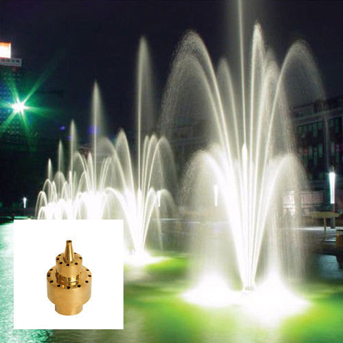 Double  Blossom Fountain Nozzle, Brass