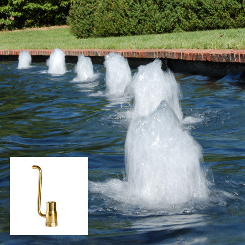 Foam Fountain Nozzle, Brass