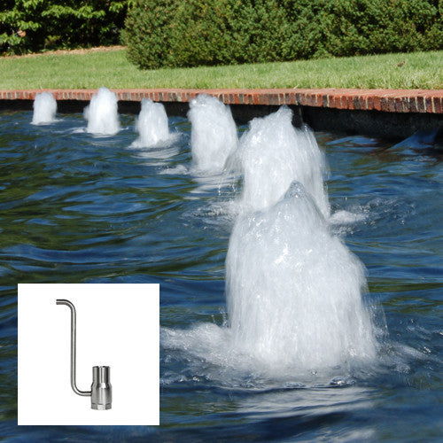 Foam Fountain Nozzle, Stainless Steel