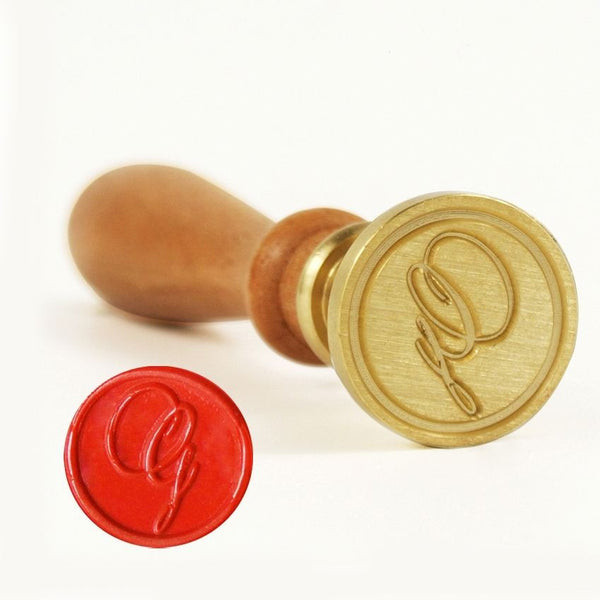 Vintage Slim Tight Script Initial G Wax Sealing Stamp