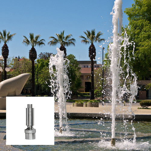 Geyser Fountain Nozzle, Stainless Steel
