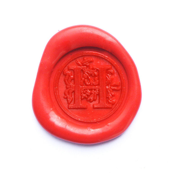 UNIQOOO Floral Initial H Symbol Wax Sealing Stamp