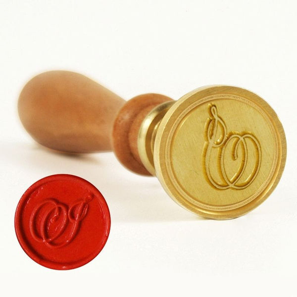 Vintage Slim Tight Script Initial I Wax Sealing Stamp