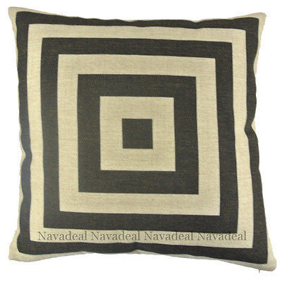 Classic Morden Black White Club Square Decorative Pillow Case Cushion Cover