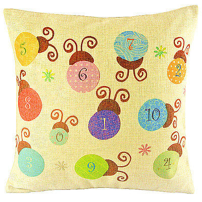 Cute Living Ladybugs Kids Room Art Decorative Pillow Case Cushion Cover Sham