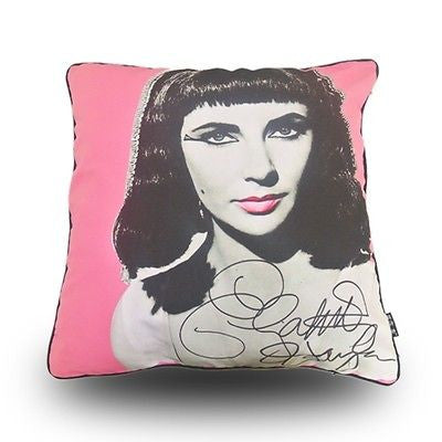 MODERN PINK PRINTED ELIZABETH TAYLOR Picture POP ART PILLOW CASE CUSHION COVER