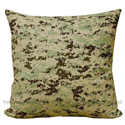 Desert CAMO Military Army Camouflage Decorative Pillow Case Cushion Cover