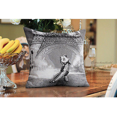 Eiffel Tower Last Tango Paris Art Decorative Pillowcase Cushion Cover Sham