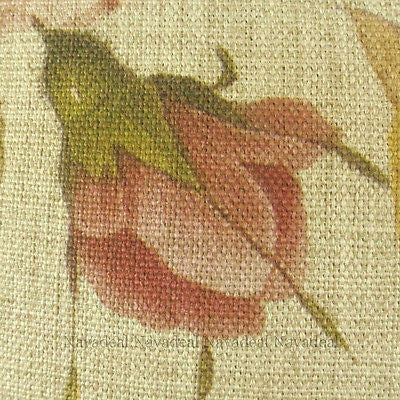 Pink Rose Flora Yellow Oriole Bird Vintage Decorative Pillow Case Cushion Cover