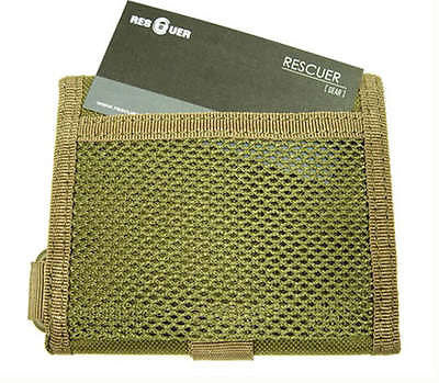 Khaki Rescue Military Multipurpose wallet TriFold Outdoor Sports Wallet
