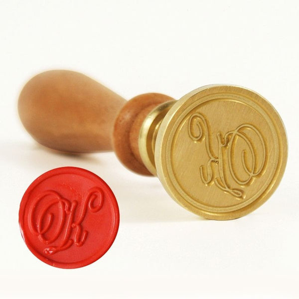 Vintage Slim Tight Script Initial K Wax Sealing Stamp