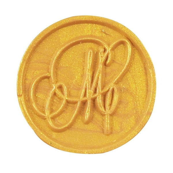 Vintage Slim Tight Script Initial M Wax Sealing Stamp