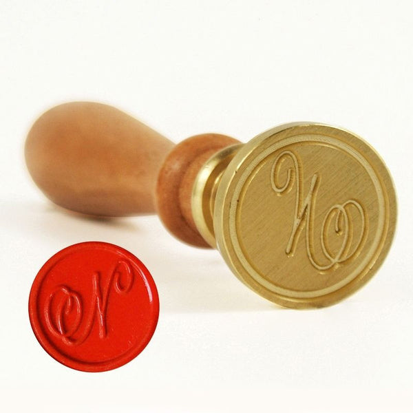 Vintage Slim Tight Script Initial N Wax Sealing Stamp