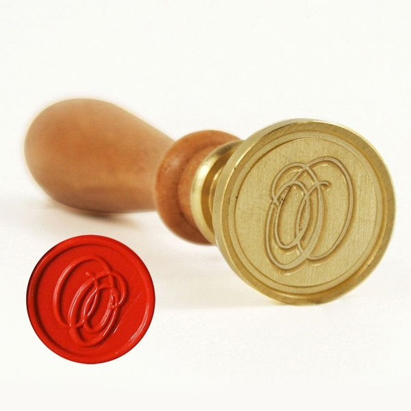 Vintage Slim Tight Script Initial O Wax Sealing Stamp