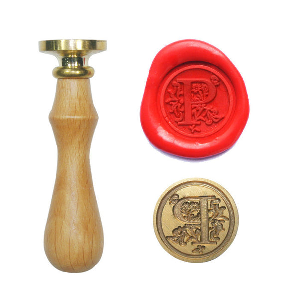 UNIQOOO Floral Initial P Symbol Wax Sealing Stamp