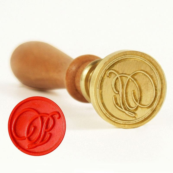 Vintage Slim Tight Script Initial P Wax Sealing Stamp