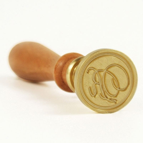 Vintage Slim Tight Script Initial R Wax Sealing Stamp