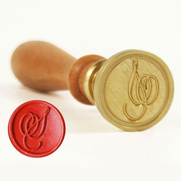 Vintage Slim Tight Script Initial S Wax Sealing Stamp