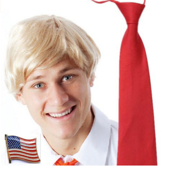 Set of Billionaire 2016 Presidential Candidates Halloween Costume Wig Tie Pin