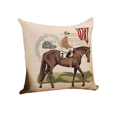 Nw Green Esquire Horse Rider Chevalier Decorative Pillow Case Cushion Cover Sham