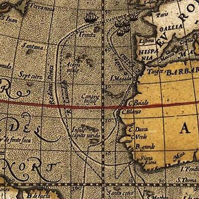 Vintage Canvas Poster 1595 World Expedition Voyage Navigation Sailing Map 39*28