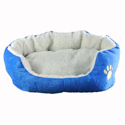 Blue Soft Fleece Cotton Pet Home Cat Dog House Bed Mat Size M