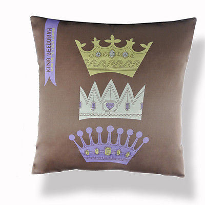 Art Coffee Crowns King Queen Decorative Pillow Case Cushion Cover Sham
