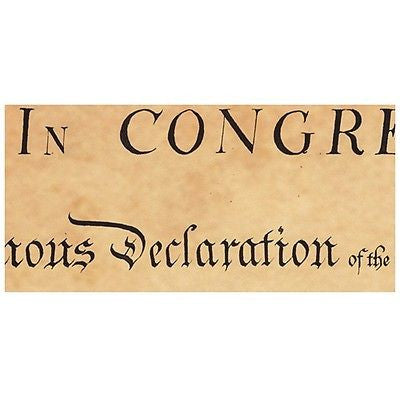 Vintage Canvas Recreation 1776 Unanimous Declaration Independence 13 State 28*33