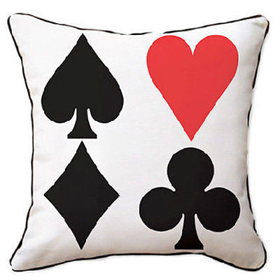 4 Poker Pattern Heart Club Spade Diamond Decorative Pillowcase Cushion Cover