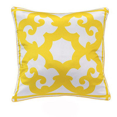 Nw Art White Yellow Coco Boho Luxury Decorative Pillow Case Cushion Cover Sham