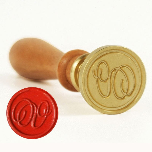 Vintage Slim Tight Script Initial V Wax Sealing Stamp