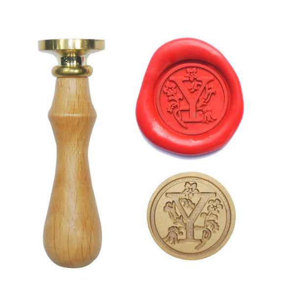UNIQOOO Floral Initial Y Symbol Wax Sealing Stamp