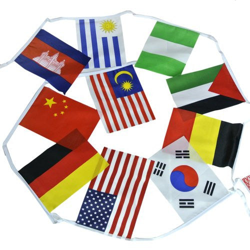 "8""x12"" 50 Pcs World Flags Combo Hanging National Countries Olympic Games Sports Assorted Nation"