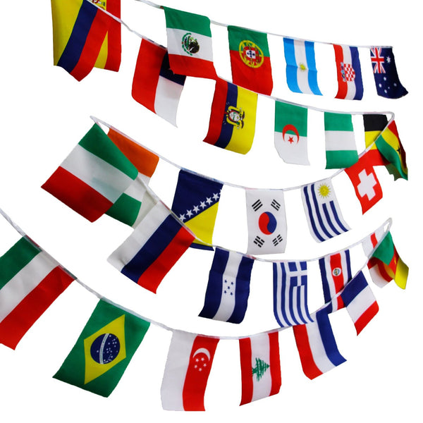 "8""x12"" 100Pcs World Flags Combo Hanging National Countries Olympic Games Sports Assorted Nation"