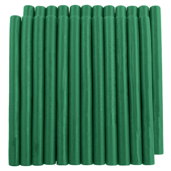 UNIQOOO Traditional King Size Sealing Wax, Green, 24Pcs